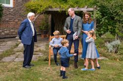 David Attenborough gives shark tooth to 7-year-old Prince George