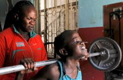 Kenyan weightlifting Olympian trains daughter and granddaughter