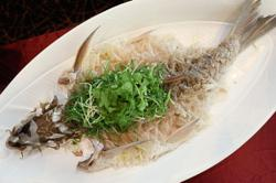 Empurau fish star attraction of seven-course meal for eight