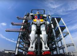 Giant Gundam robot moving in Japan harbour entrances millions on Twitter