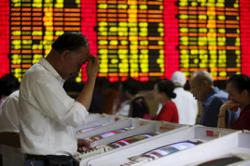 China shares end lower, record worst monthly loss in over 1 year