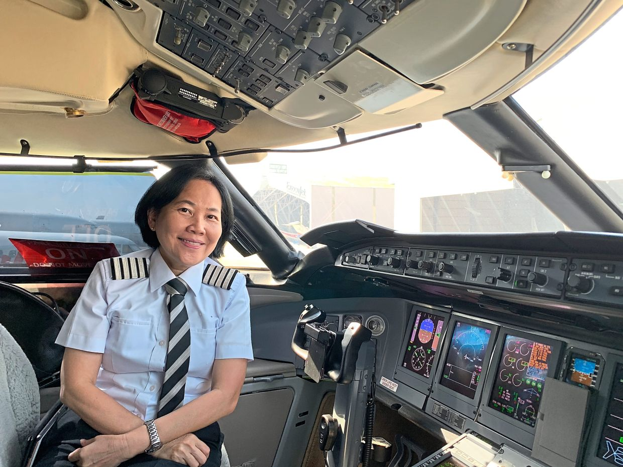 Norashikin is the first woman to pilot a commercial airline. Photo: The WiAA Project
