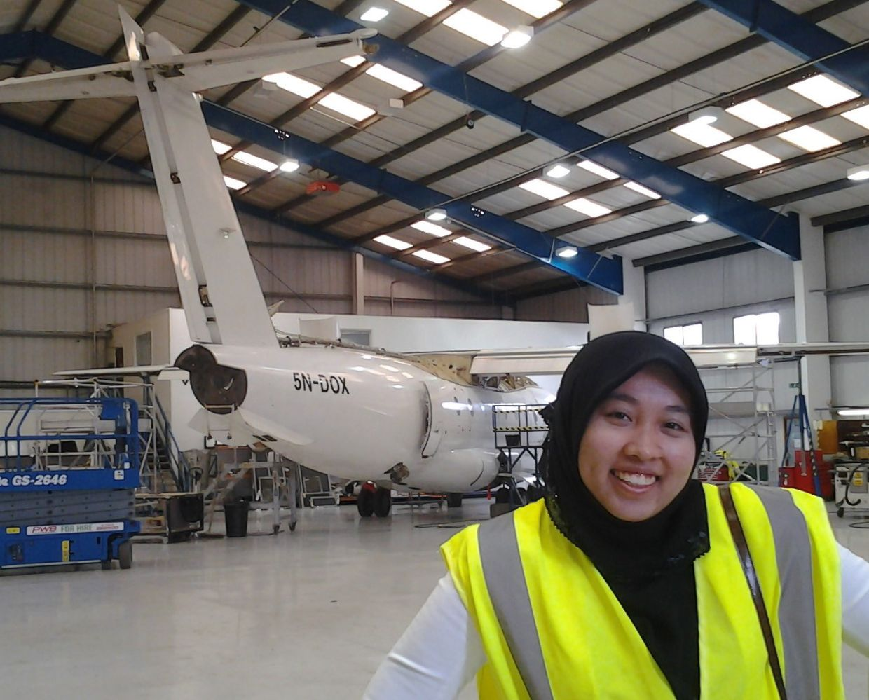 Hasnor successfully juggles motherhood and a career in aviation. Photo: The WiAA Project
