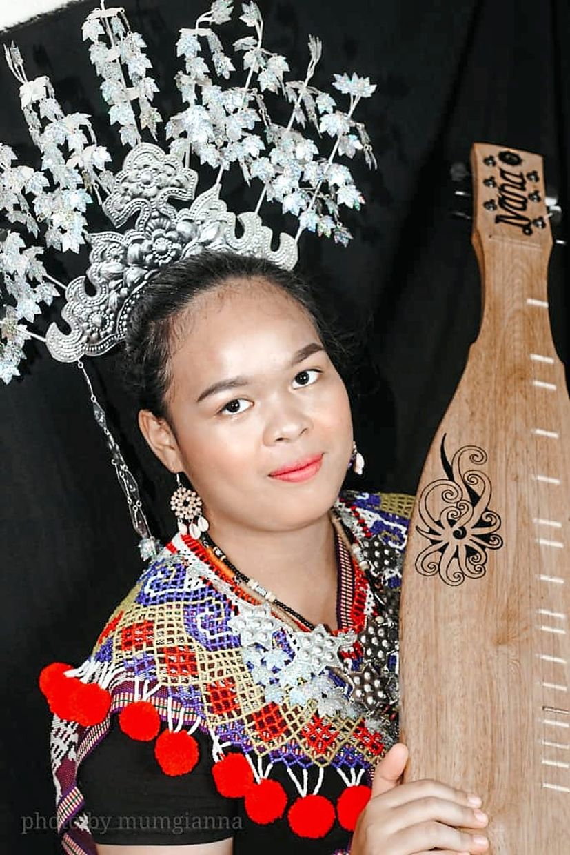 """""""It's important to learn the sape because it's part of Sarawak's culture and heritage, """" says Ivana. Photo: Ivana Anz Eddie"""
