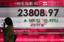Asian shares gain on stimulus hopes, Trump leaving hospital