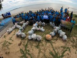 11 tonnes of trash cleared from beaches on international coastal clean-up day