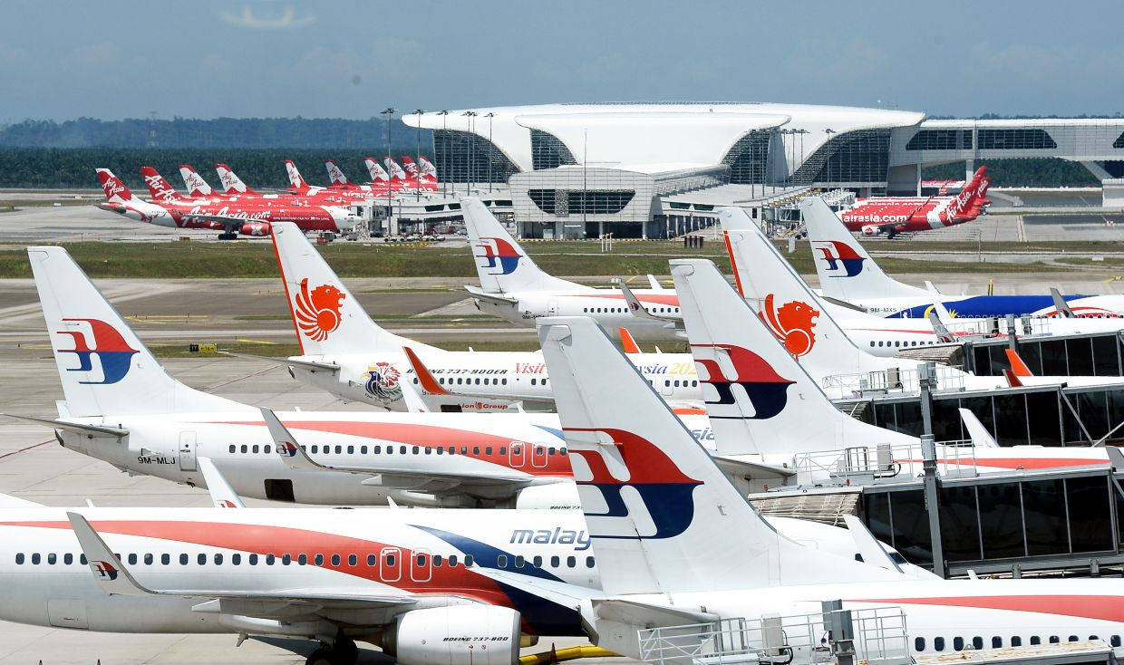 Many planes were grounded during the movement control order - AZHAR MAHFOF/The Star