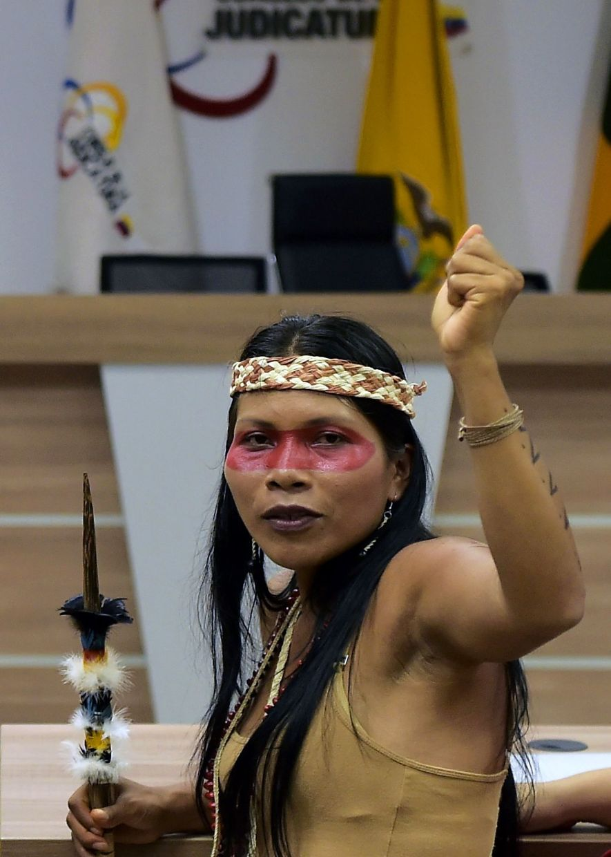 But the Amazonian communities are suffering from the pollution of water sources, deforestation and the increasing difficulty to hunt animals that have been scared off by humans.