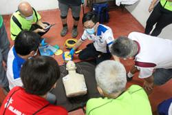 Power to save lives via AED session