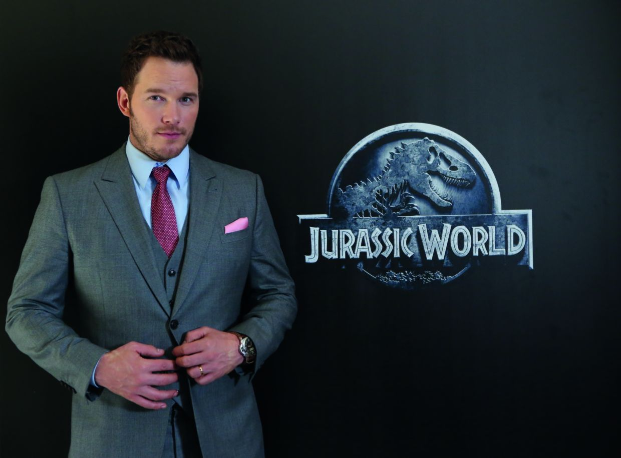 A 2015 filepic of Chris Pratt in Beijing, China for Jurassic World. He resumes the role in the third instalment of the franchise.