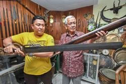 Weaponed up: Malaysian collector has amassed 10,000 ancient artefacts