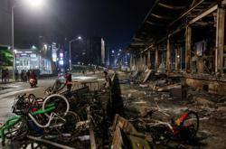 Jakarta cleans up after violent anti-labour law protests