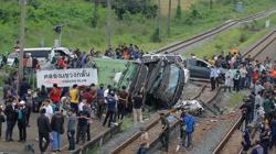 Death toll in bus-train collision rises to 20 in Central Thailand (update)