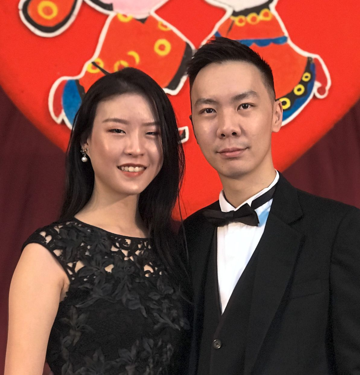 Lee (left) and Chai were among the couples who chose 10.10 for the date of their marriage.
