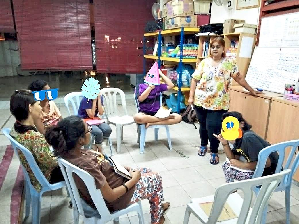 Group discussions are an integral part of thinking aloud and healing, says Shoba (before the MCO). Photo: Rumah Perlindungan Sosial YWCA