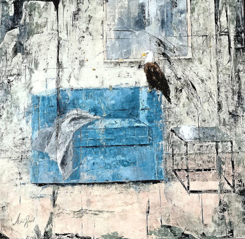 Muhammad Hafiz Azizi's 'Eagle In The House' (oil on canvas, 2020). Photo: Pelita Hati