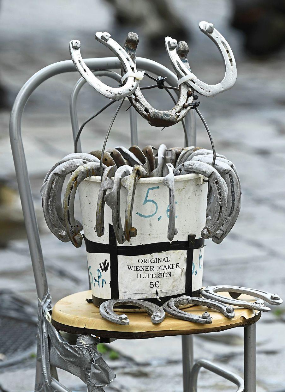 Traditional horseshoes used by Fiaker at Vienna's Michaelerplatz.
