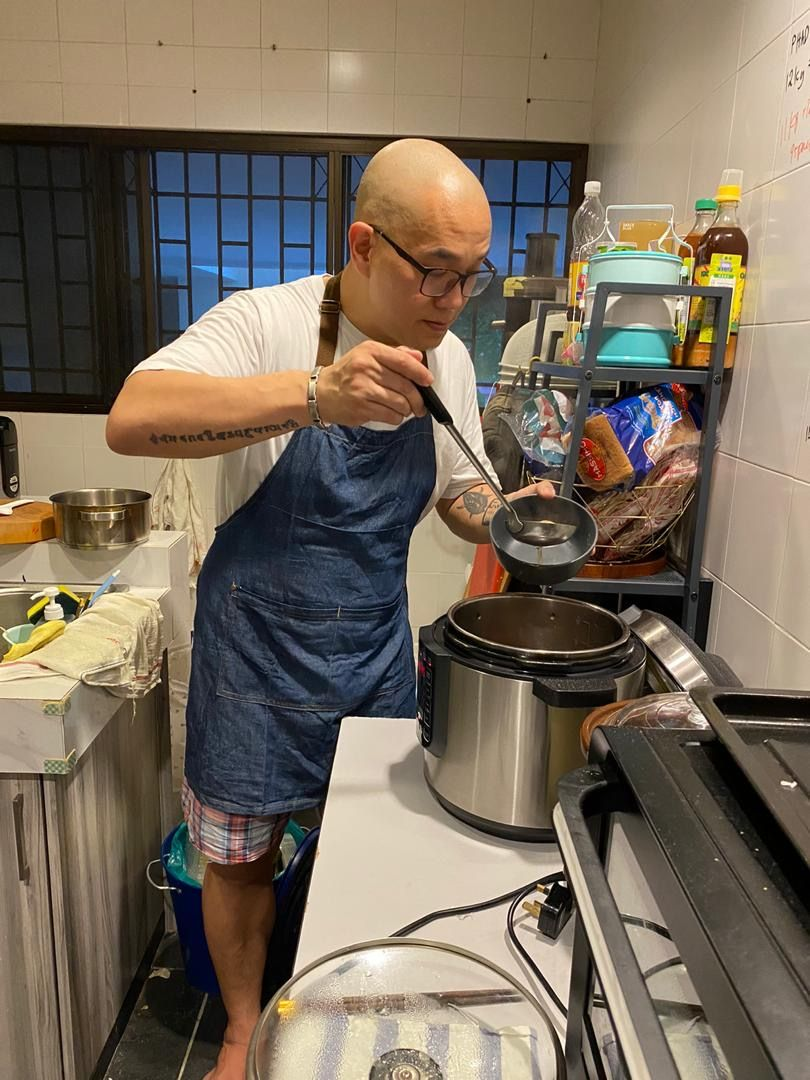 After losing his job during the MCO, Wong started a home business selling home-cooked meals and says business has been very good. Photo: Bruce Wong