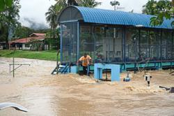 Langkawi roads flooded after downpour