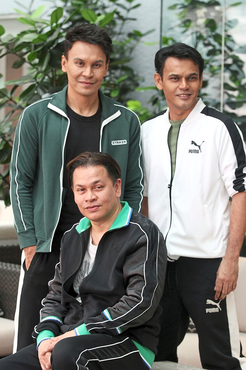 Band of brothers: Kru Entertainment's founders (clockwise from left) Edry, Yusry and Norman. The company lost its binding 'glue' when Edry migrated to Britain.