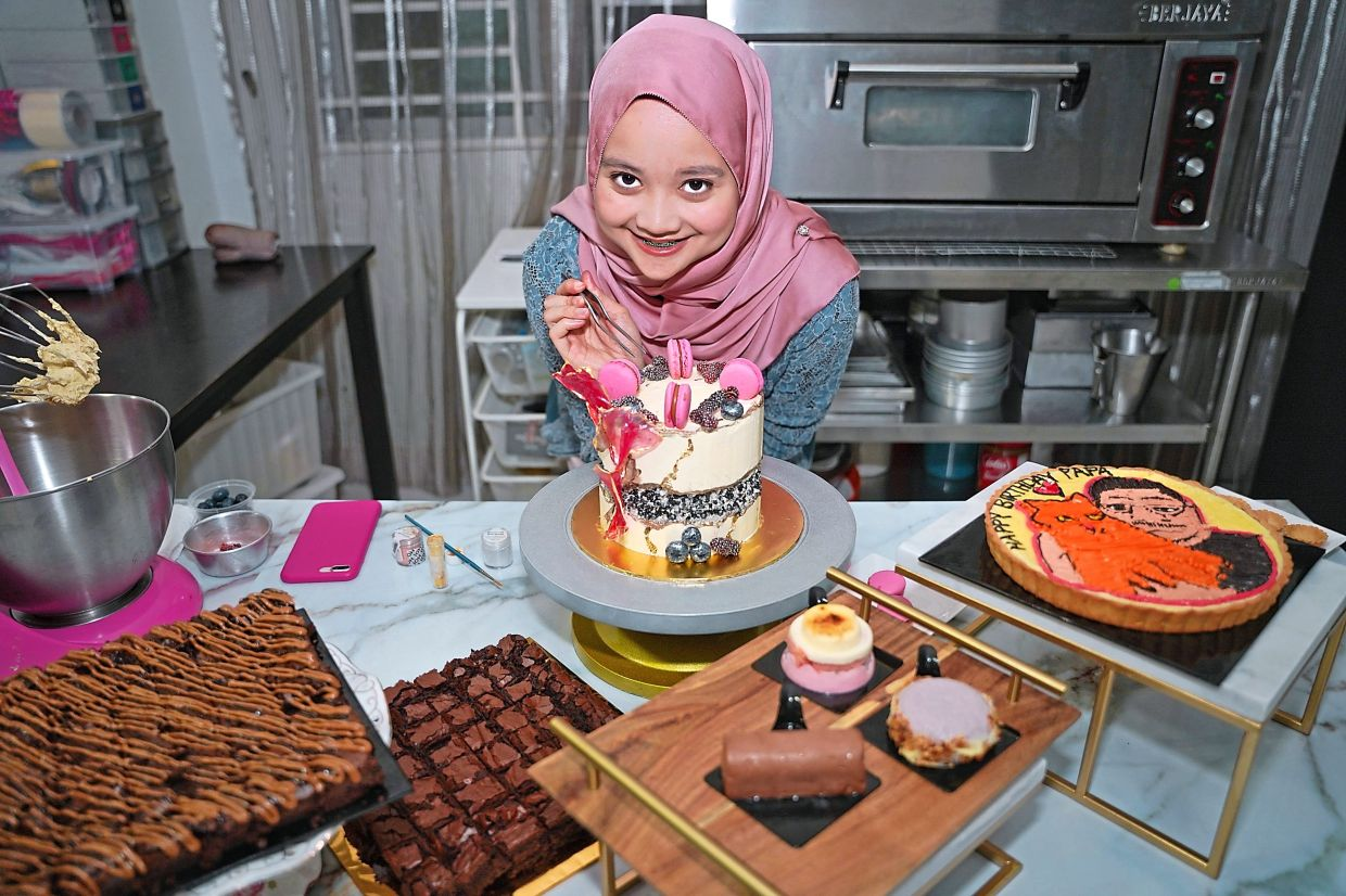 Erlina is using the skills she learnt at culinary school to build a viable business model. — ERLINA MOHD KHAIRUDDIN