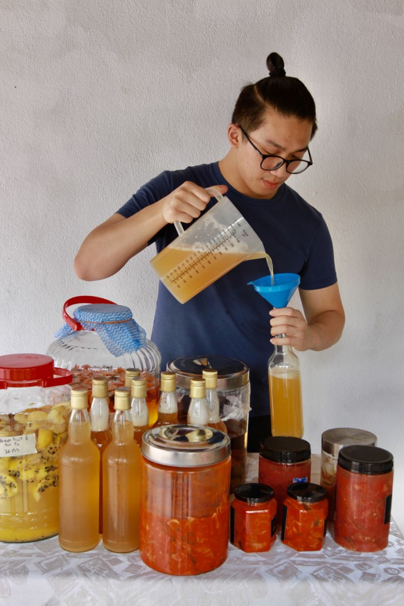 Lee says demand for his fermented products has been pretty good, and he even supplies his kimchi to a local restaurant. — LOW LAY PHON/The Star