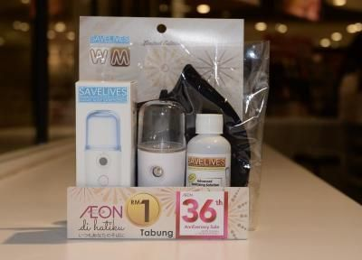 You can get the face mask set which includes nano-mist spray for RM29.90.
