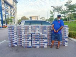 Man arrested in Johor Baru with RM105,000 worth of contraband beer