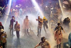 Protesters 'behaved badly'