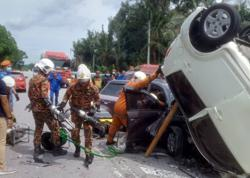Three killed in two-vehicle crash in Tapah