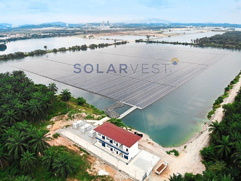 Solarvest largest floating solar plant in Dengkil, Selangor