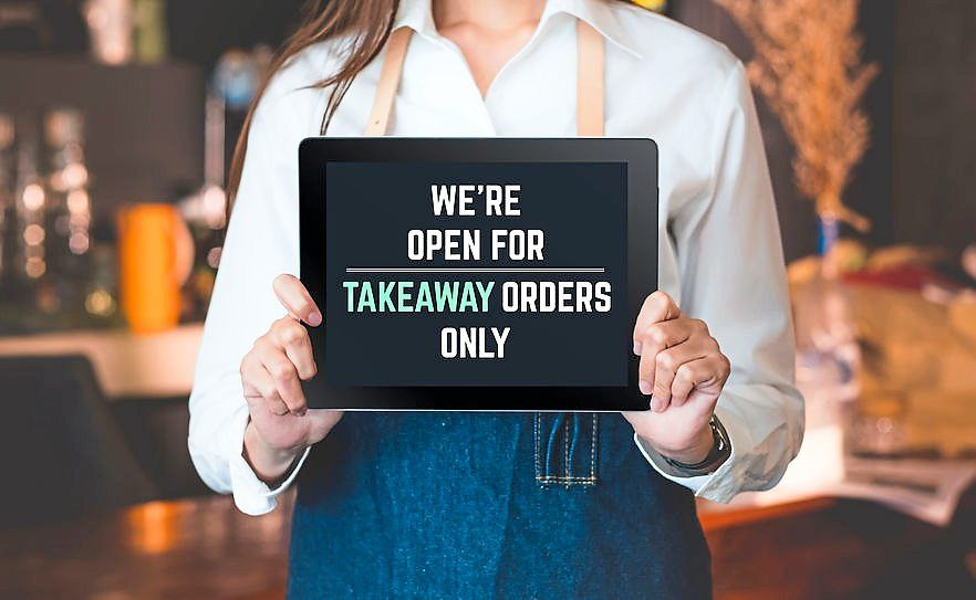 Some restaurants are focusing on their take-away and delivery business while weighing the risks of allowing dine-in within their premise.