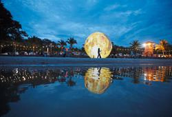 The 'moon' has landed on Kuantan beach