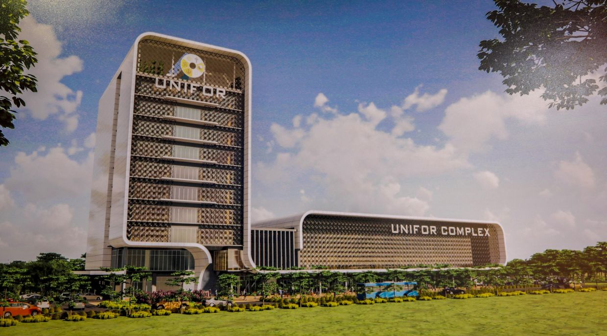 An artist's impression of the new Unifor complex in Kuching.— ZULAZHAR SHEBLEE/The Star