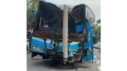 Bus driver loses control of vehicle, takes out utility pole