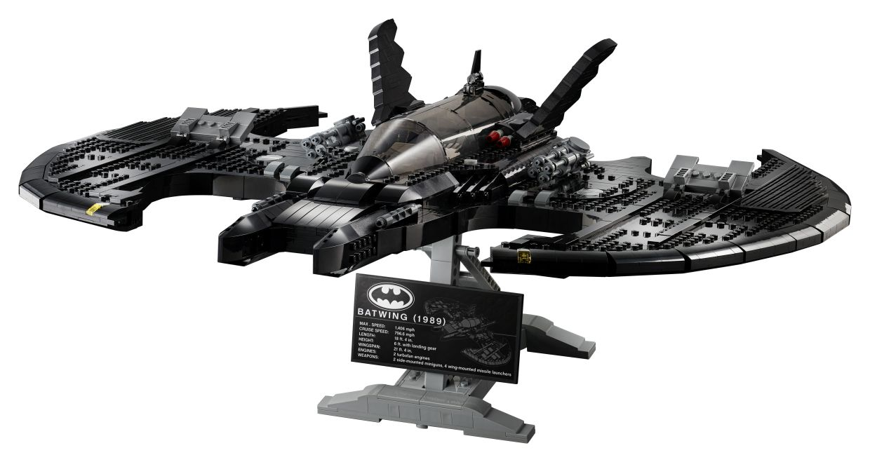 The Batwing measures an impressive 22cm wide, 52cm long and 11cm tall.