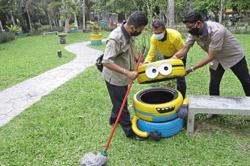 Minions 'invade' pocket park in George Town