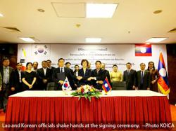 KOICA of Korea grants US$11 million for Laos' Nam Ngum River basin project