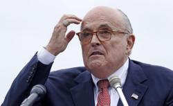 Giuliani shown in compromising position in hotel bedroom in new Borat film