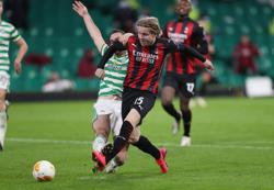 Milan withstand late pressure to beat Celtic 3-1 in Europa League
