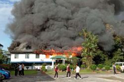 Fire razes living quarters in Sibu school; none hurt
