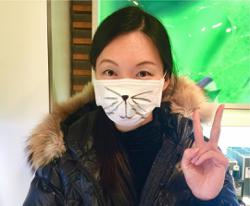 Supermodel Ling Tan sure knows how to have fun with her mask
