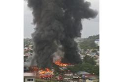 Furniture outlet in Sabah goes up in flames