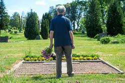 Coping with the death of a long-time companion late in life