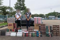 JB cops arrest duo with cigarettes worth over RM100,000