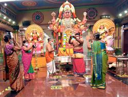 Up to 50 people allowed at two temples for Navarathri