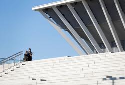 Tokyo finally opens Aquatics Centre with hopeful ceremony