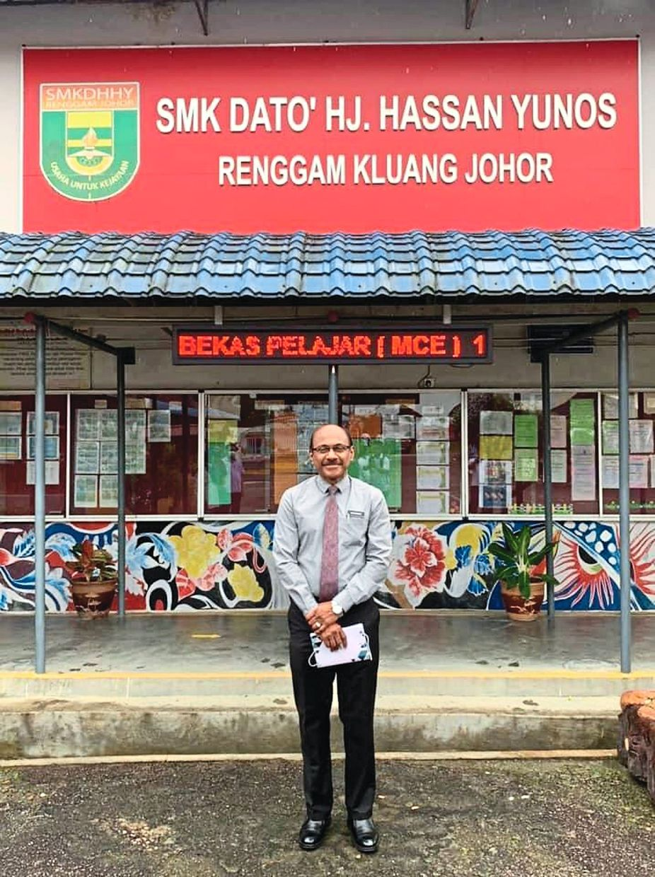 An alumnus of SMK Dato' Hj.Hassan Yunos, Mohamed has done his alma mater proud.