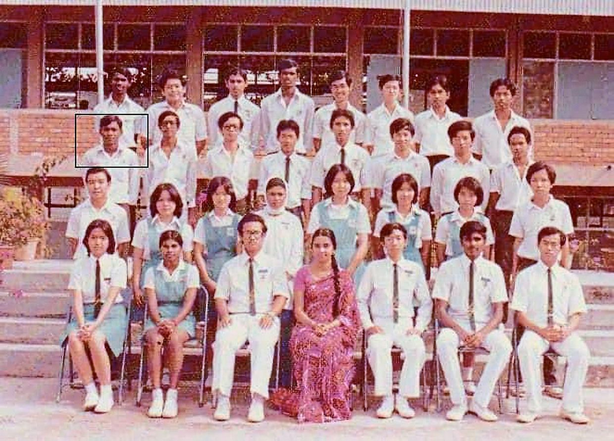 Mohamed's class of Form Five in 1977.