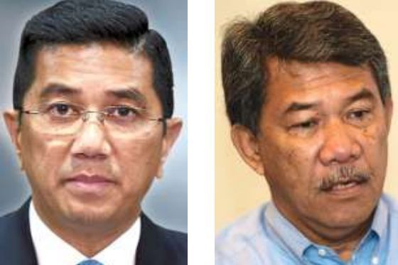 Concern for the nation: Azmin (left) and Mohamad.